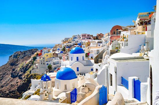Tuinposter Santorini Griekenland
